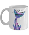 Personalised mermaid off duty mug. Mermaid Gift.