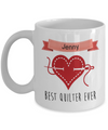 Personalized quilter gift. Best quilter ever mug. Quilter mug.