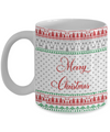 Personalized Christmas theme gift. Custom named Christmas mug