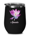 Personalized Lotus Wine Travel Mug