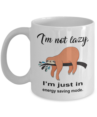 Sloth Mug, Cute Sloth Coffee Cup, Sloth Lover Gift