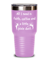 Funny Custom Beverage Tinker Bell pixie dust tumbler. Best friend gift. Mom birthday gift.