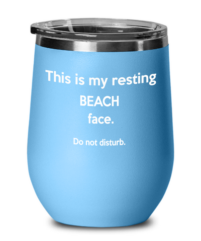 Wine tumbler for the beach. Summer wine tumbler gift idea. Birthday gift for her and him.