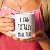 Crafting, crocheting, sewing funny mug. I can totally make that.