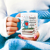 Funny book lover mug - I googled my symptoms turned out I need more coffee and books coffee mug