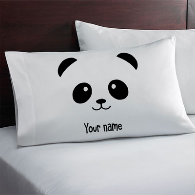 Personalized Panda Pillowcase. Panda Gifts. Birthday gift for a girl or boy. Birthday party favor.