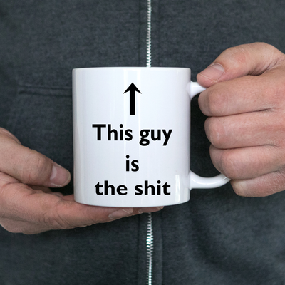 Best birthday gift idea for men. Humorous Novelty Christmas cup for dad, brother, husband, uncle, co-worker or boyfriend.