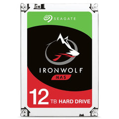 SEAGATE 12TB 3.5 IRONWOLF NAS HDD 256MB CACHE