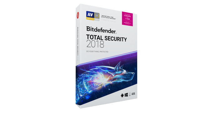 BITDEFENDER TOTAL SECURITY 2018 - 1 YEAR, 5 DEVICE