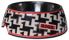 Rogz 2-in-1 Bubble Dog Bowl (Houndstooth Design)