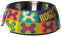 Rogz 2-in-1 Bubble Dog Bowl (Pop Art Design)