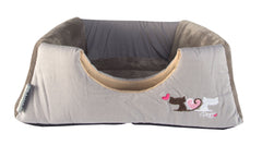 Rogz Catz Multi-Purpose Igloo Bed Grey Heart Tails Design