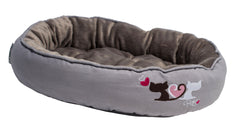 Rogz Catz Snug Podz Heart Tails Design on Cool Grey