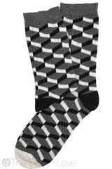 3D Chessboard Pattern socks