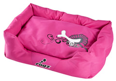 Rogz Spice Podz Dog Bed (Pink Bone on Pink and Charcoal Design)