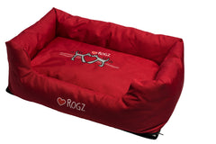 Rogz Spice Podz Dog Bed (Red Heart on Red Design)