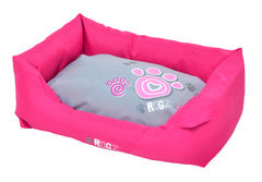 Rogz Spice Podz Dog Bed (Pink Paw Design)