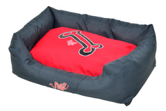 Rogz Spice Podz Dog Bed (Red Rogz Bones Design)