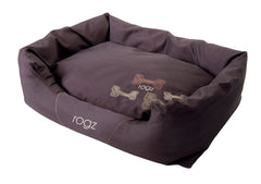 Rogz Spice Podz Dog Bed (Mocha Bone Design)