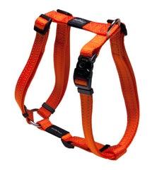 Rogz Utility Large 20mm Fanbelt Dog H-Harness, Reflective
