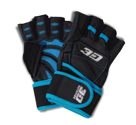 3D NUTRITION HARDCORE XT LIFTING GLOVES - WITH STRAPS [BLACK]