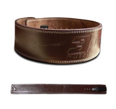 3D NUTRITION POWER LEATHER BELT [BROWN]