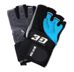 3D NUTRITION PERFORMANCE GLOVES - WITH STRAPS [BLACK]
