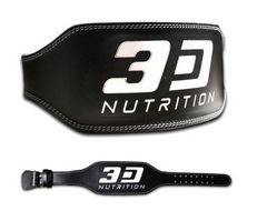 3D NUTRITION WEIGHT LIFTING LEATHER BELT [BLACK]