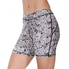 BW ATHLETIC LADIES SNAKE SKIN HOT PANTS