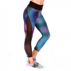 BW ATHLETIC LADIES FISH NET 3/4 LEGGINGS