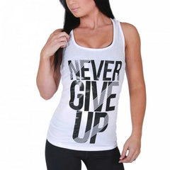 BW ATHLETIC LADIES NEVER GIVE UP RACER BACK [WHITE]