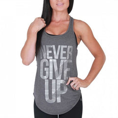 BW ATHLETIC LADIES NEVER GIVE UP STRINGER [CHARCOAL]
