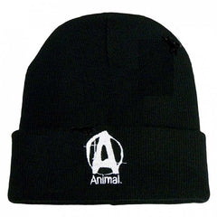 UNIVERSAL ANIMAL BEANIE [BLACK]