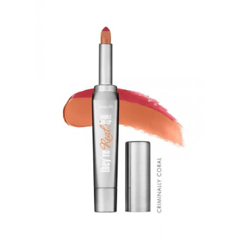 Benefit They're Real Double The Lip 1.5g Criminally Coral Lipstick - STAR MAKEUP