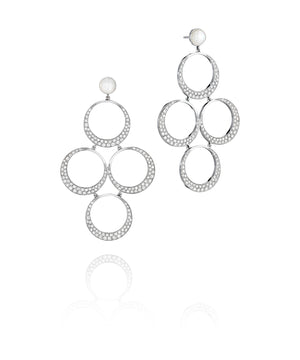 Charlotte White Gold Circles