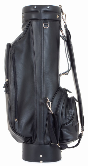 Black Leather Golf Bag