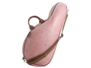 Pink Leather Tennis Bag