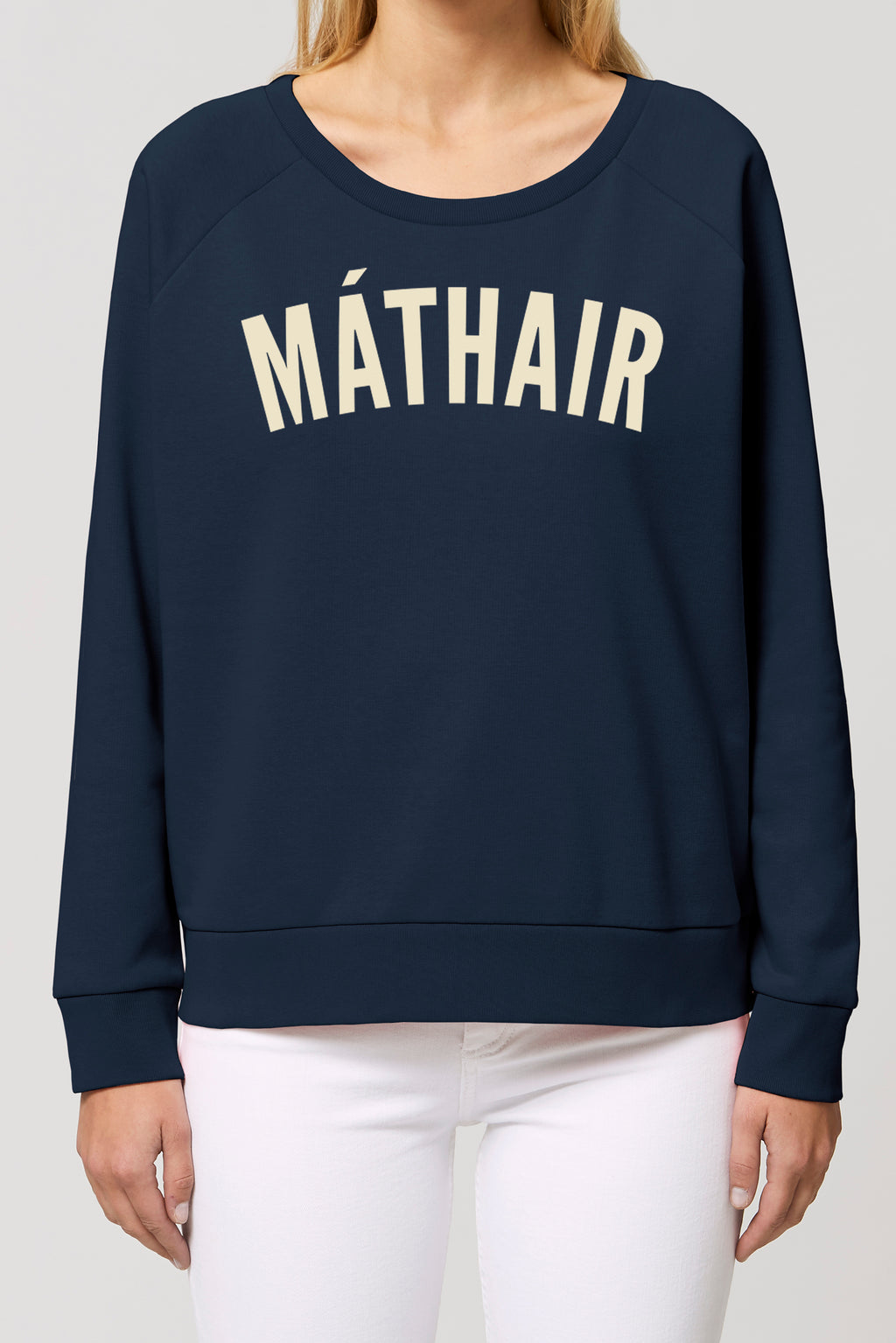 MÁTHAIR French Navy sweatshirt Cannoli Cream