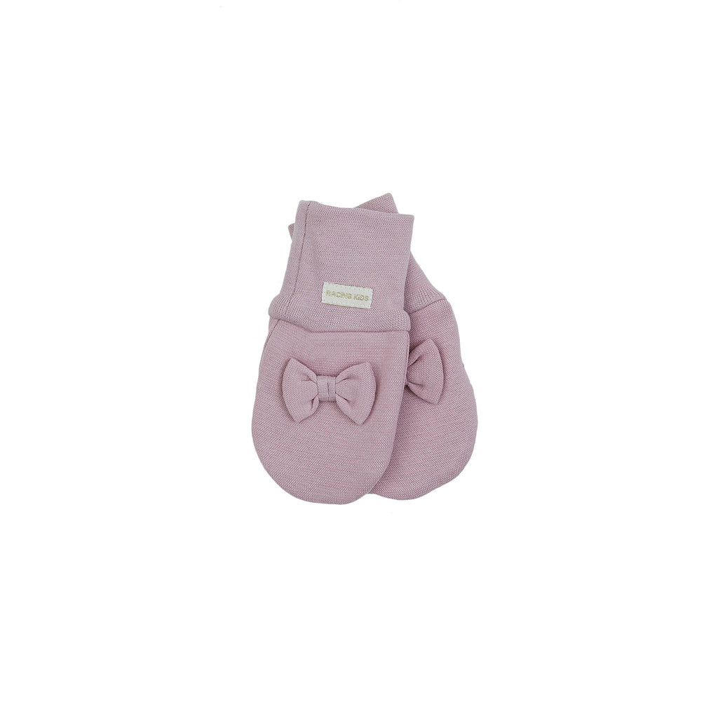 Organic Windproof Baby Cotton Mittens with Bow 505107-21 C2020