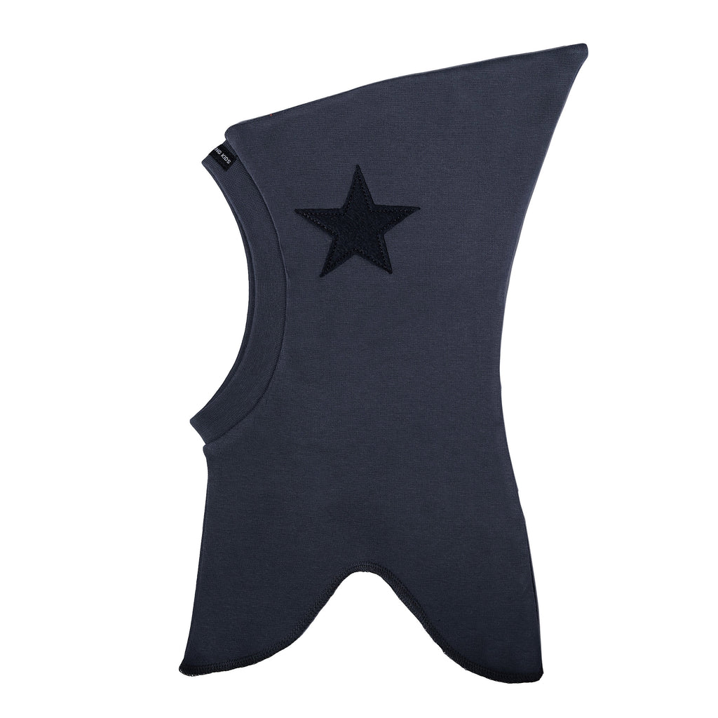 Single Layer Cotton Balaclava with Top and Felt Star 507106-84 SS18
