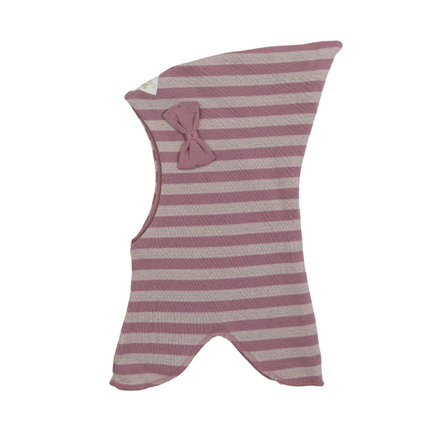 Organic Striped Double Layer Cotton Balaclava with Top and Bow 545001-5592 C2020