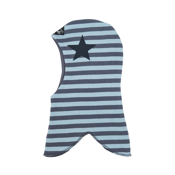 Round Striped Double Layer Cotton Balaclava with Star 547100-8443