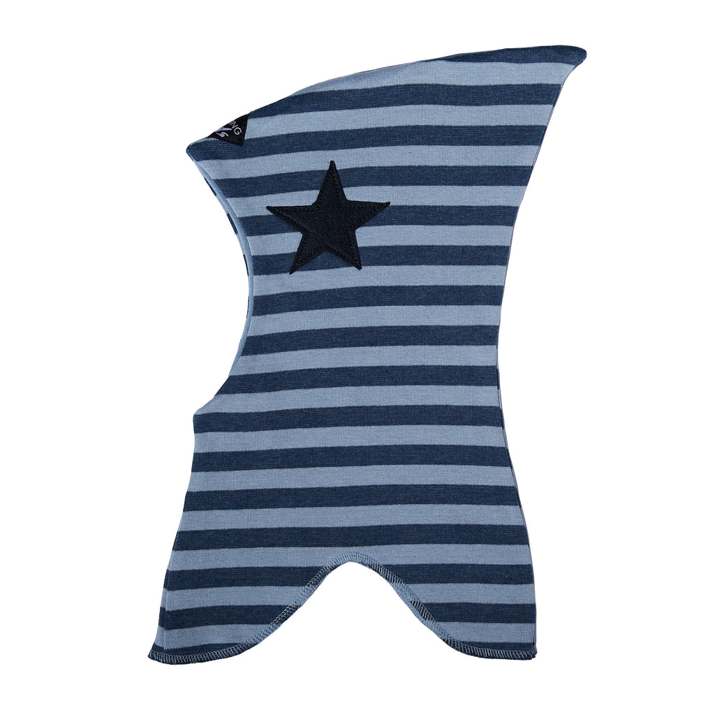 Striped Double Layer Cotton Balaclava with Felt Star 547101-4338