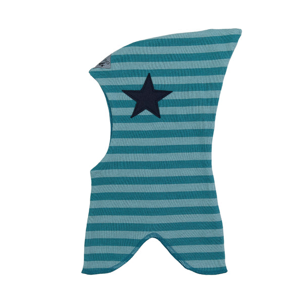 Organic Striped Double Layer Cotton Balaclava with Top and Star 547101-4550 C2020