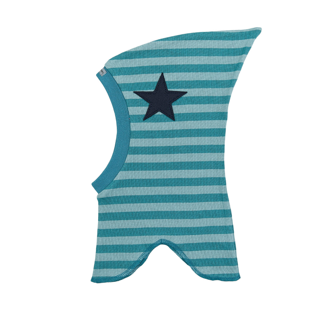 Organic Striped Single Layer Cotton Balaclava with Top and Felt Star 547106-4550 C2020
