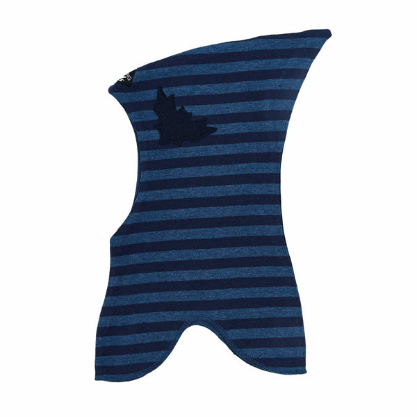 Striped Double Layer Cotton Balaclava with Felt Bat 547301-3814