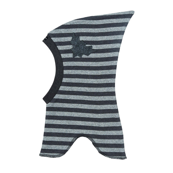 Striped Single Layer Cotton Balaclava with Top and Felt Bat 547306-3534