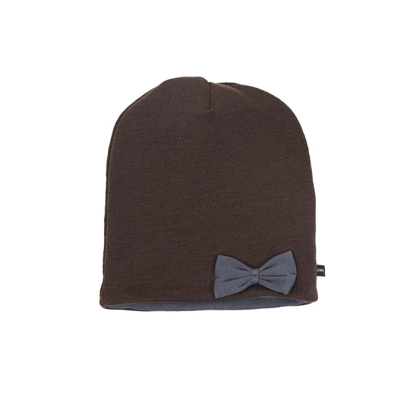 Wool Beanie with wool bow 605055-64 AW18
