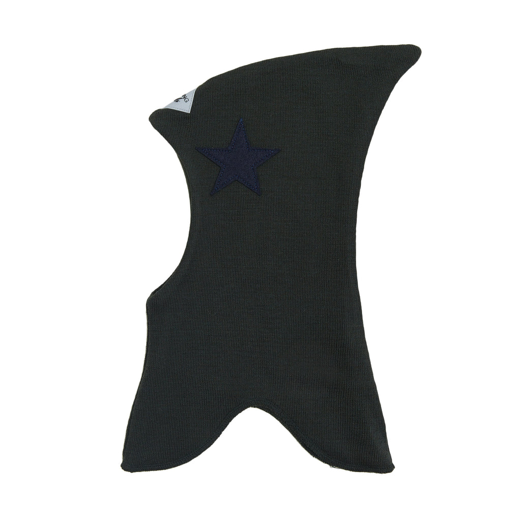 Wool single colour Balaclava with top with filt star 607101-88 AW19