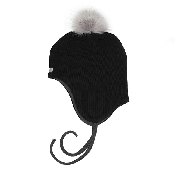 Wool Baby Aviator Helmet with Pompom 609004-20 AW18